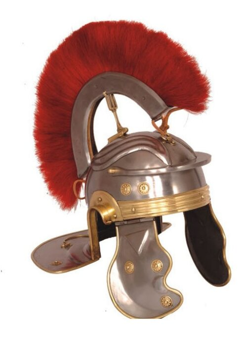 Hełm Rzymski Roman Gallic G Centurion Helmet, Red Crest