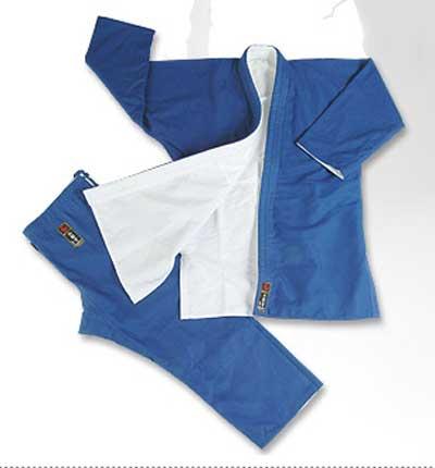 Judogi plecionka - biało-niebieska gruba 16oz