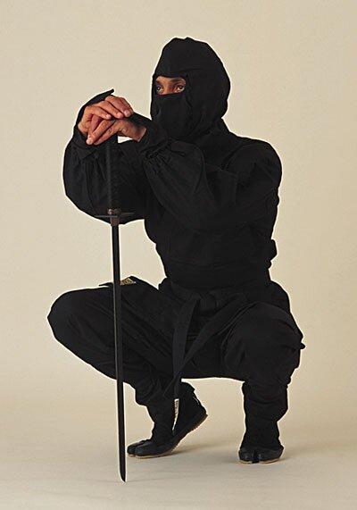 Strój Ninja Czarny Deluxe