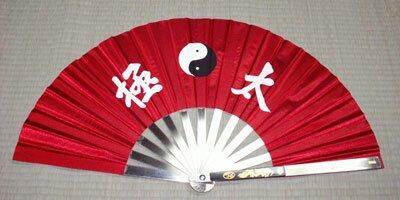 Wachlarz do Kung Fu - Ying Yang design